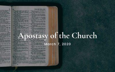Apostasy of the Church